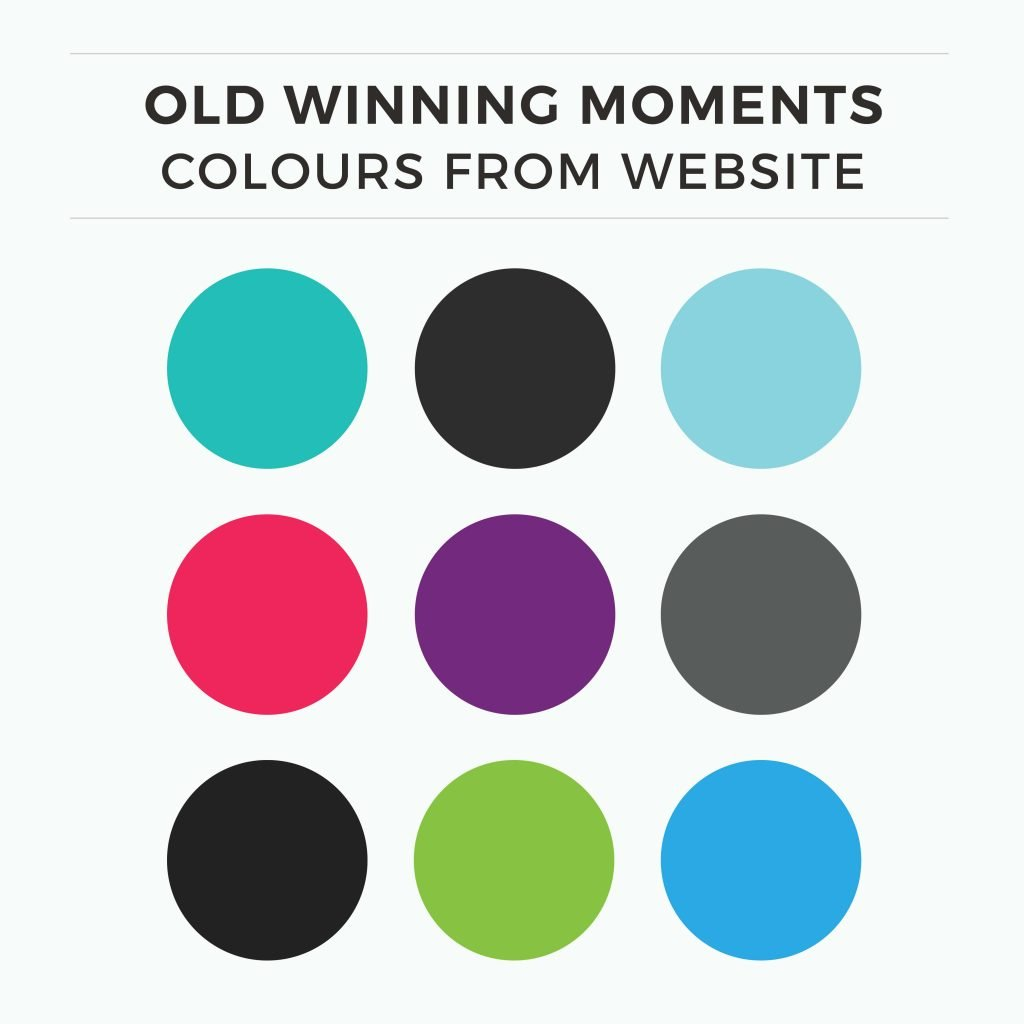 These old colours were too dark for females. Their target audience are both male and female readers from 18 to 65 years old, so they want it to feel approachable for both genders.