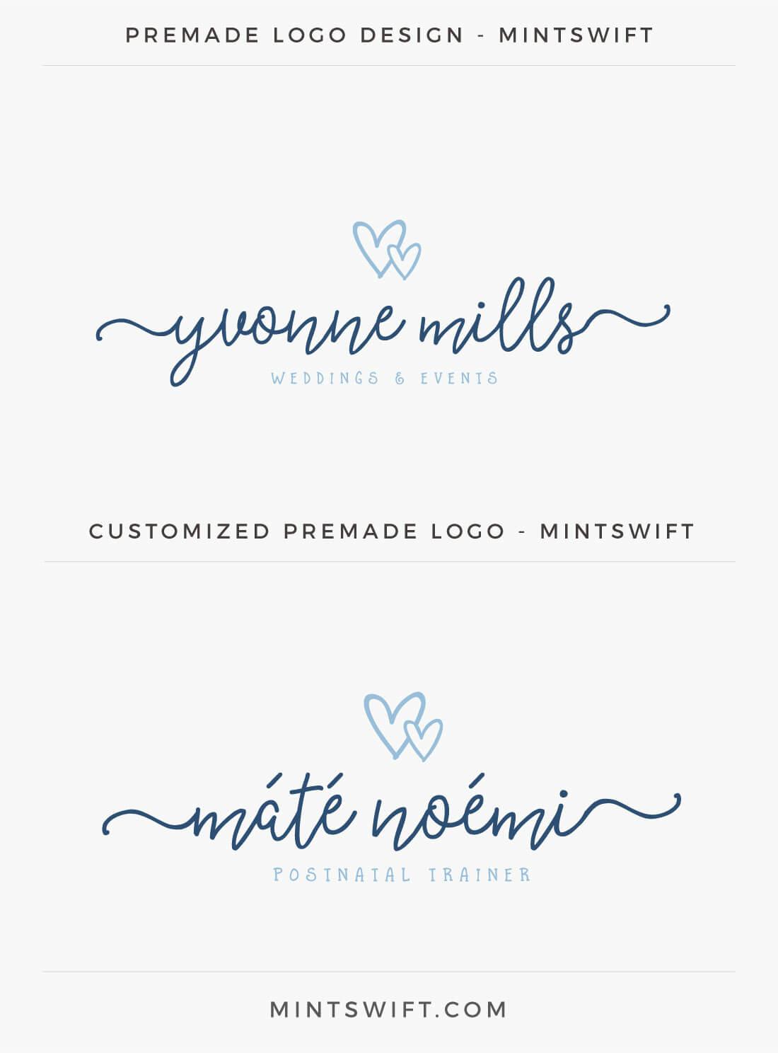 Premade Logo from Mint Swift Shop customization