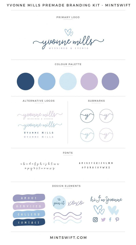 Yvonne Mills Premade Branding Kit – MintSwift