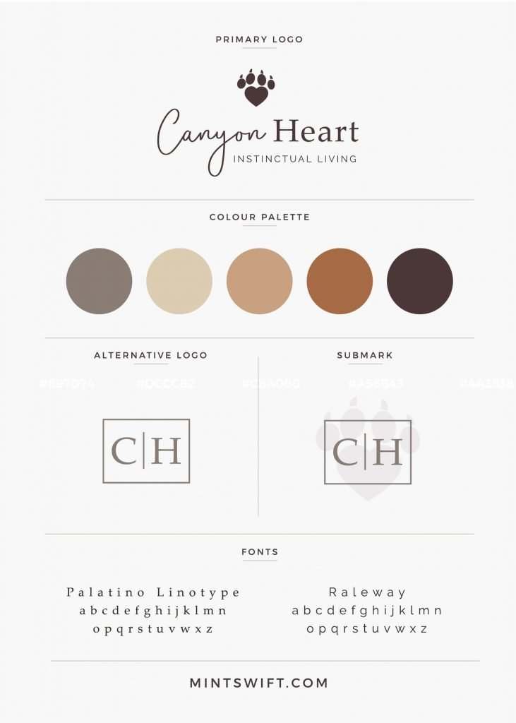 Recent work – Logo and submark design for Canyon Heart