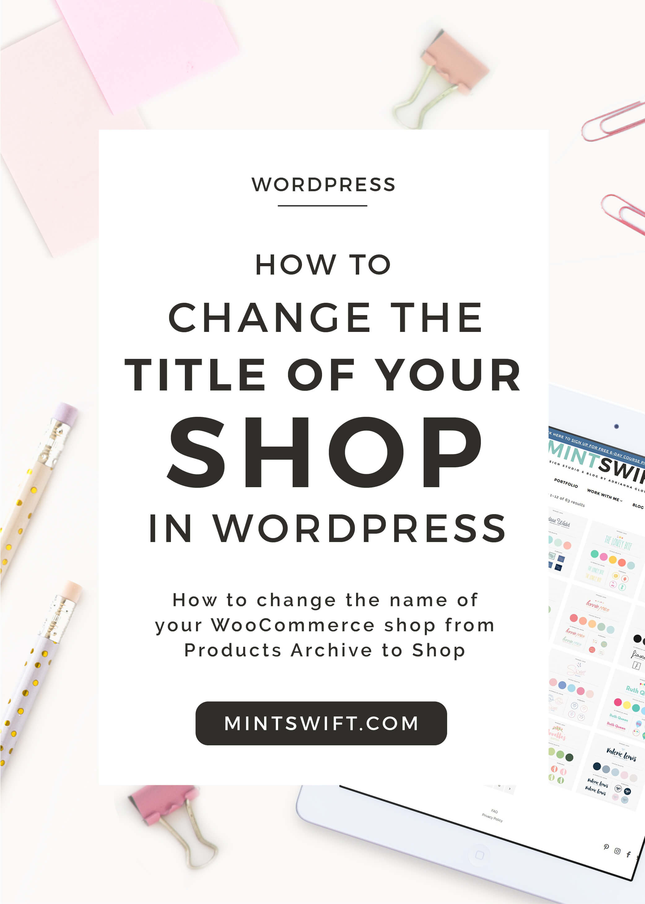 Learn how to quickly change the default WooCommerce shop title from Products Archive to Shop in WordPress using the Yoast SEO plugin.
