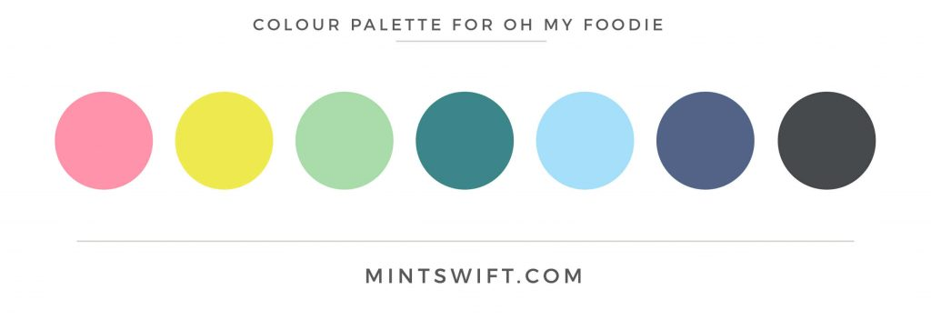 Oh My Foodie colour palette MintSwift