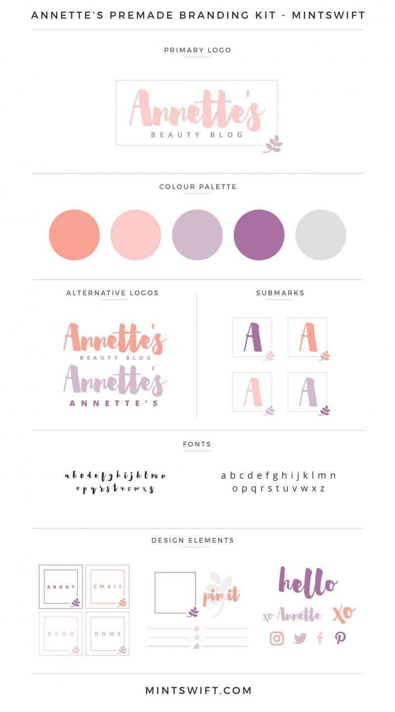 Annette's Premade Branding Kit – MintSwift