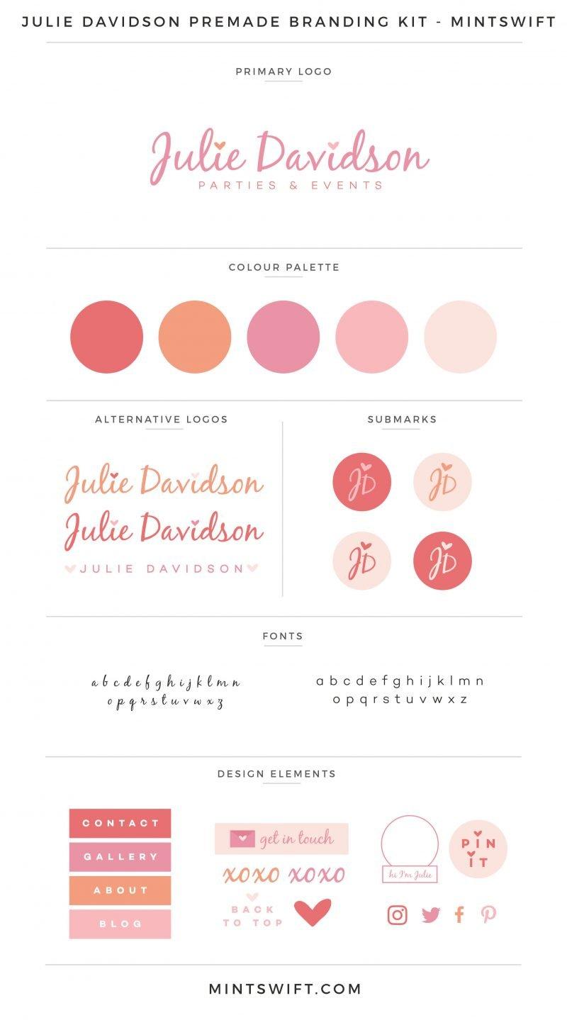 Julie Davidson Premade Branding Kit – MintSwift