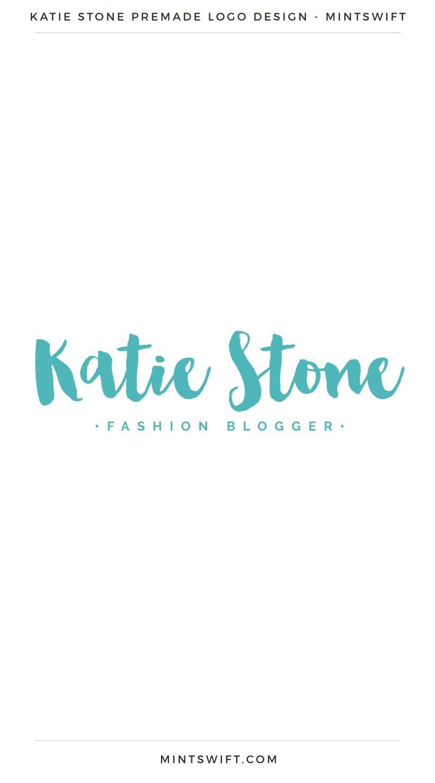 Katie Stone Premade Logo – MintSwift