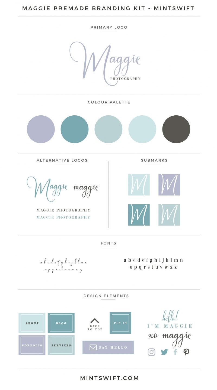 Maggie Premade Branding Kit – MintSwift