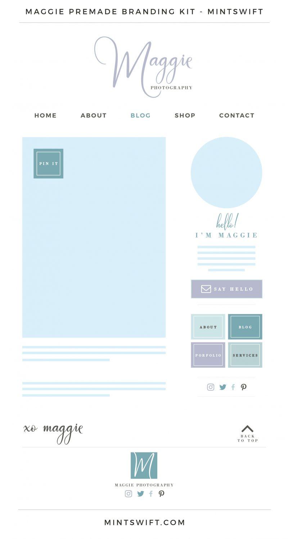 Maggie Premade Branding Kit