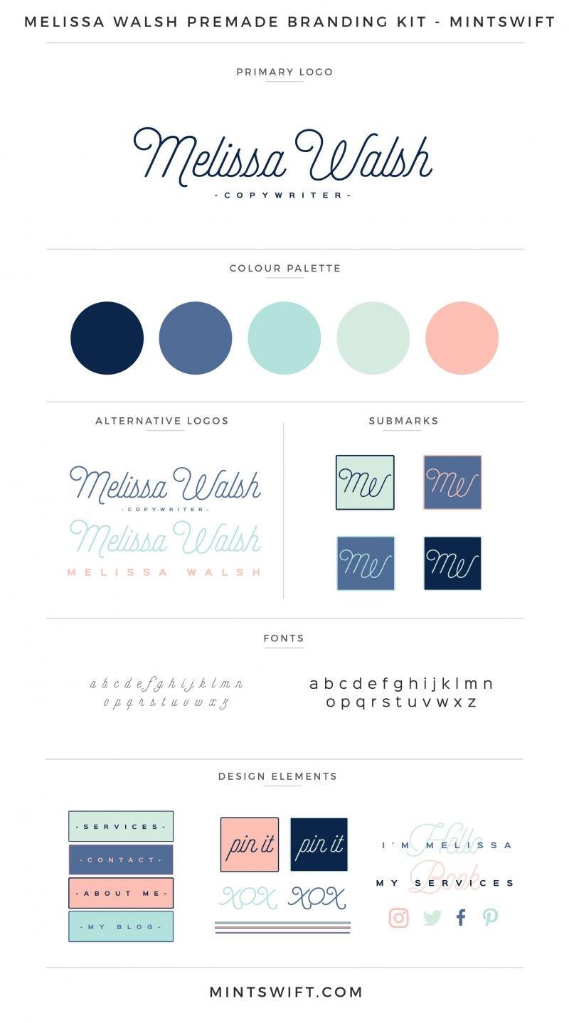 Melissa Walsh Premade Branding Kit – MintSwift