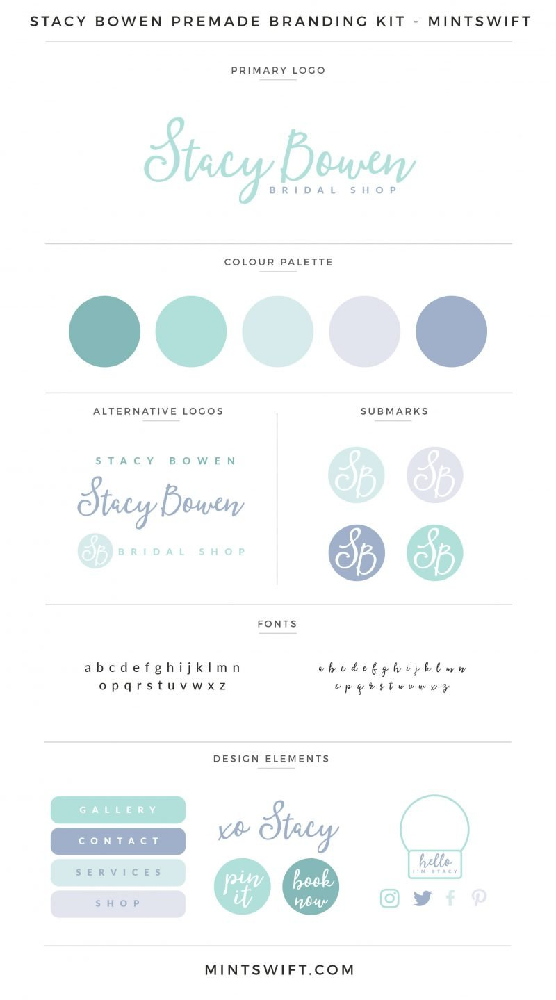 Stacy Bowen Premade Branding Kit – MintSwift