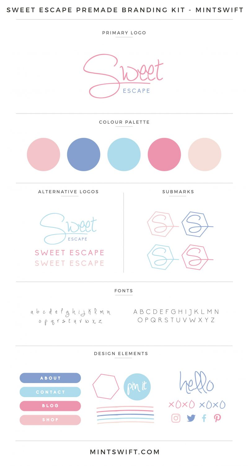 Sweet Escape Premade Branding Kit