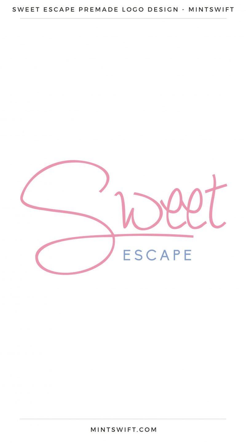 Sweet Escape Premade Logo – MintSwift