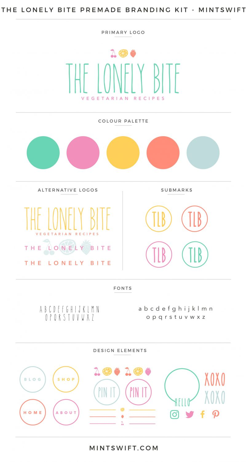 The Lonely Bite Premade Branding Kit