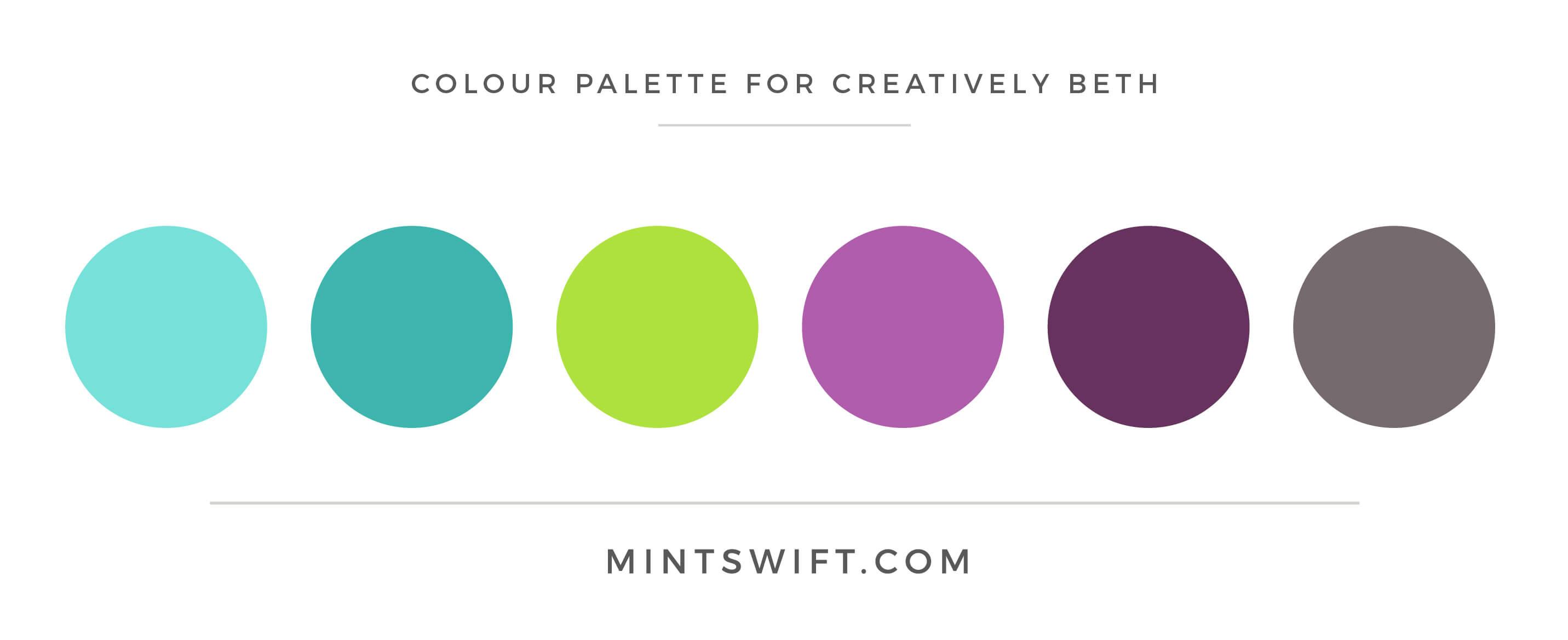 Creatively Beth - Colour Palette - Brand & Website Design - MintSwift