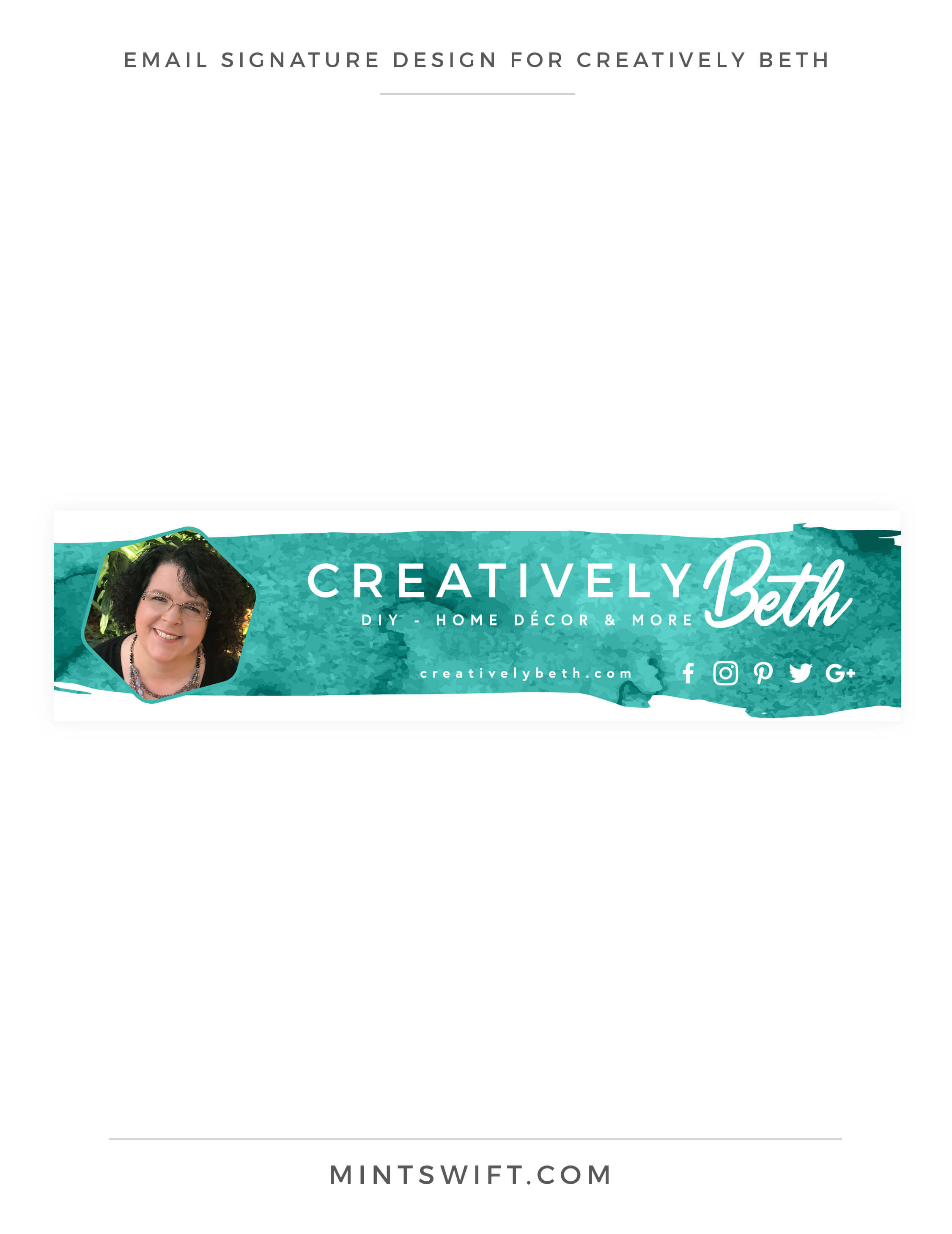 Creatively Beth - Email signature design - Brand & Website Design - MintSwift