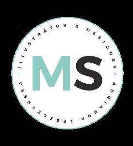 Submark Logo - MintSwift - Illustrator & Designer Adrianna Leszczyńska