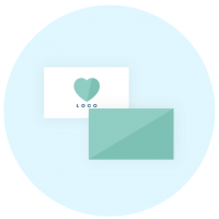 Business cards icon - Brand collaterals - MintSwift