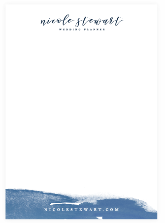 Letterhead design - brand collateral example - MintSwift