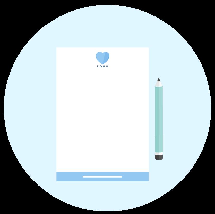 Letterhead icon - Brand collaterals - MintSwift