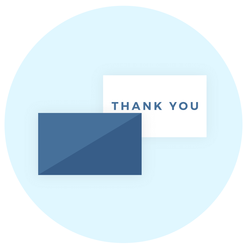 Thank you or Greeting cards icon - Brand collaterals - MintSwift