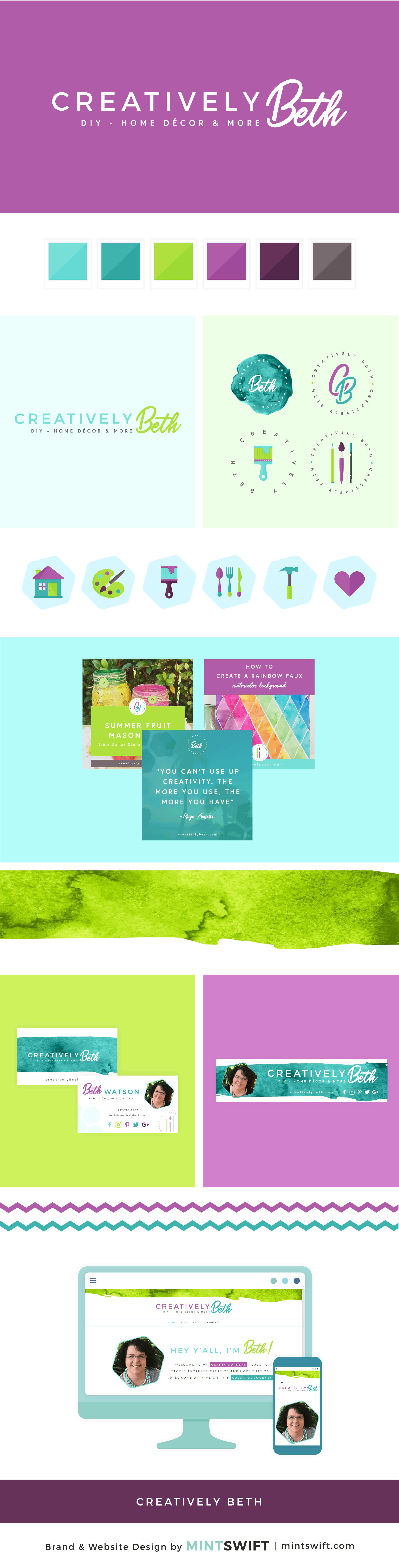 Creatively Beth - Brand & Website Design Package - MintSwift