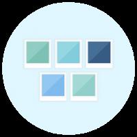 Colour Palette Icon - Brand Board Elements - MintSwift