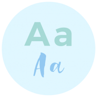 Font Combinations Icon - Brand Board Elements - MintSwift