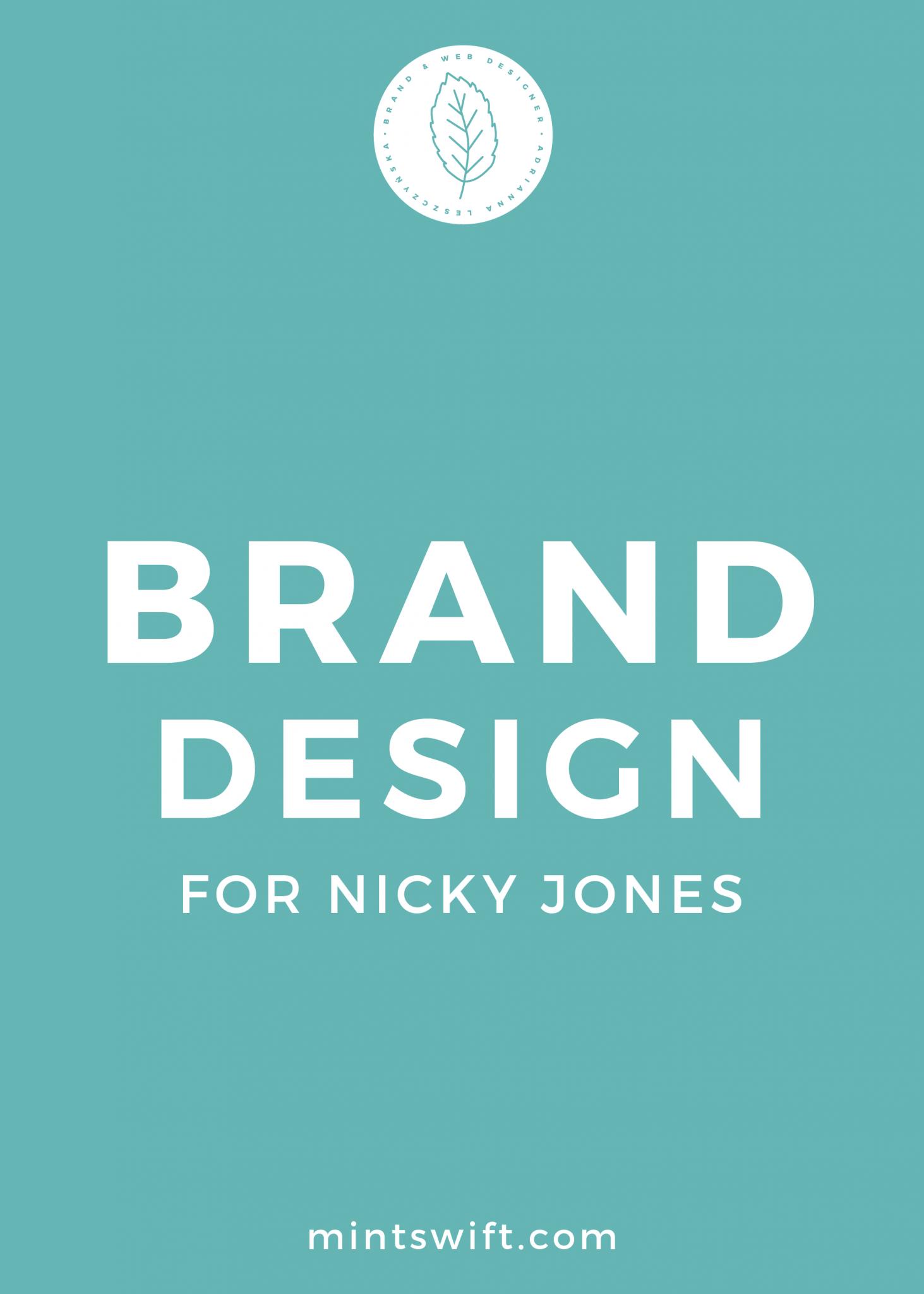 Brand Design for Nicky Jones - MintSwift