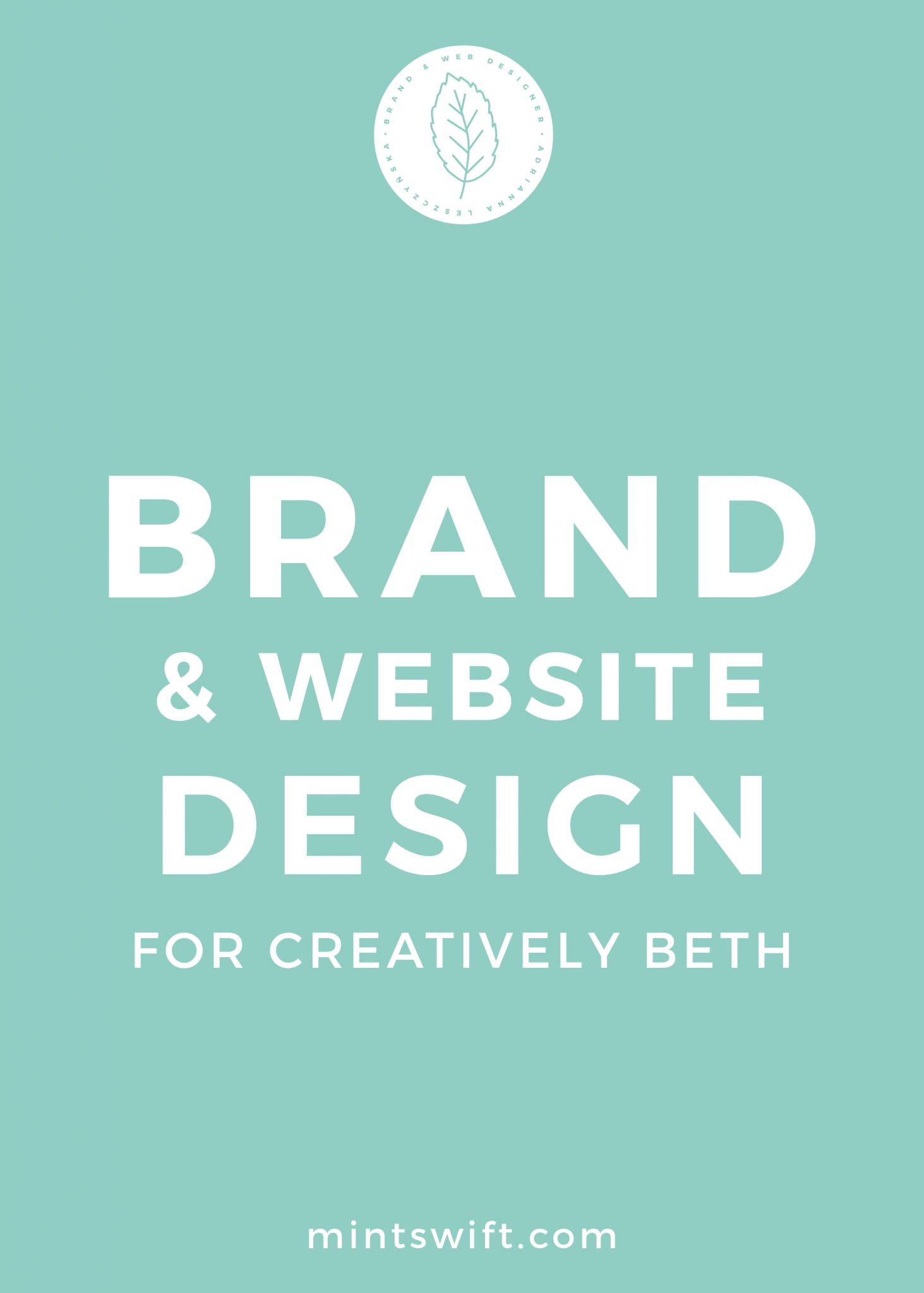 Brand & Website Design for Creatively Beth - MintSwift