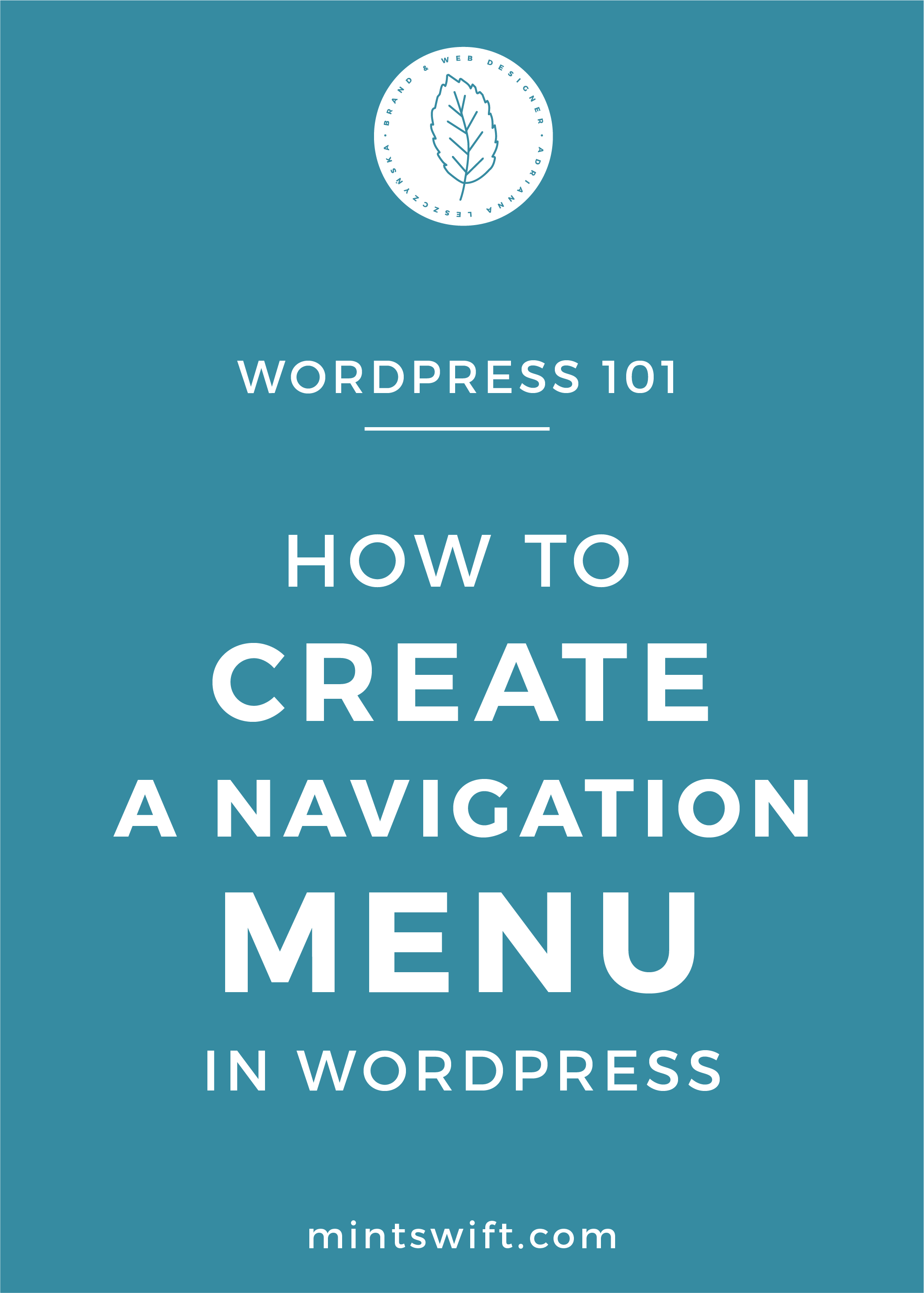 How to Create a Navigation Menu in WordPress - MintSwift