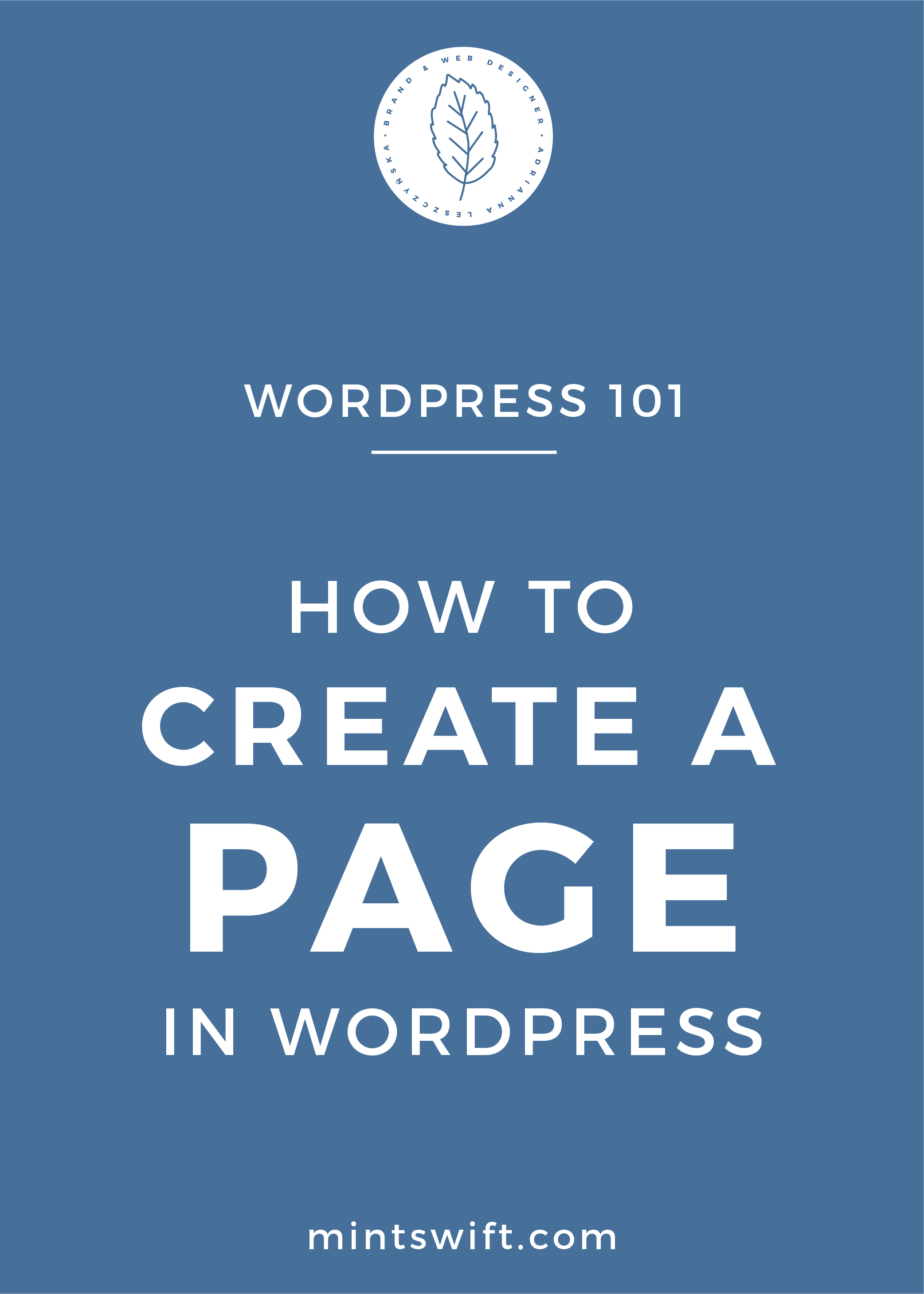 How to Create a Page in WordPress - MintSwift