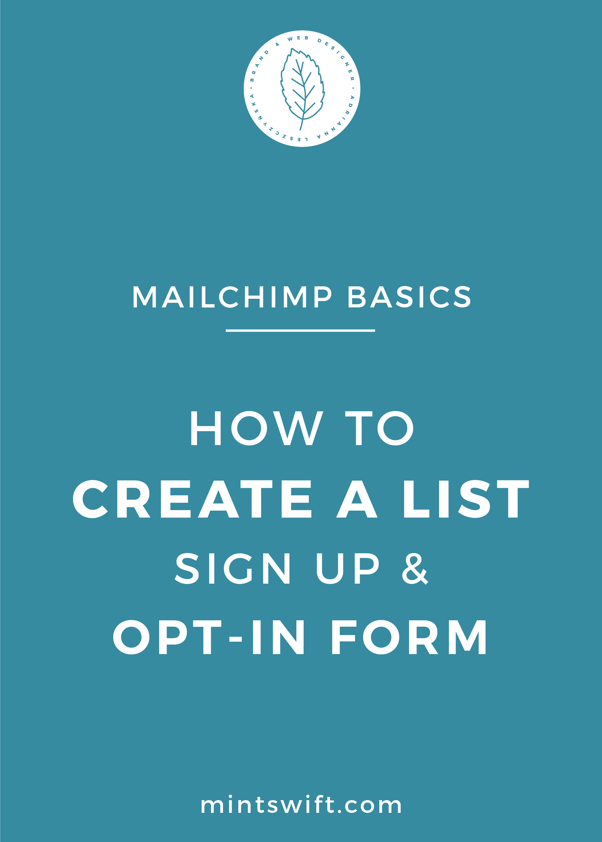 MailChimp Basics – How to Create A List, Sign Up and Opt-In Forms - MintSwift
