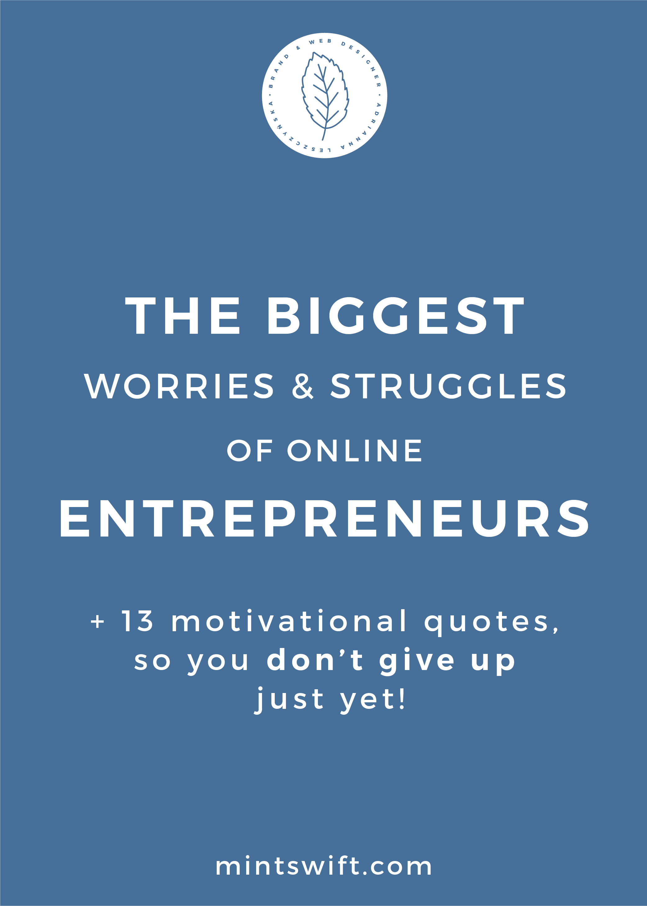 The Biggest Worries and Struggles of Online Entrepreneurs & 13+ Motivational Quotes, So You Don't Give Up Just Yet! - MintSwift