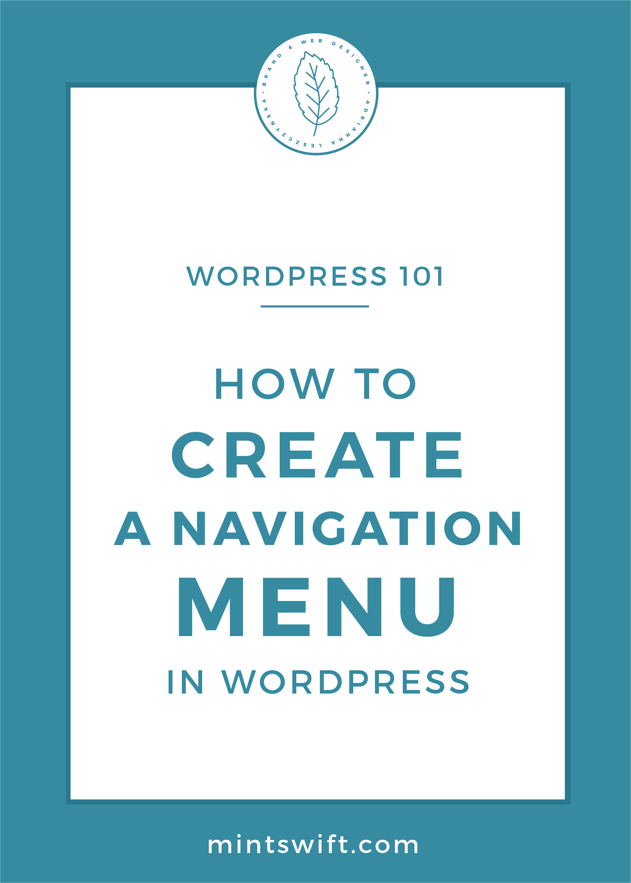 How to Create a Navigation Menu in WordPress by MintSwift