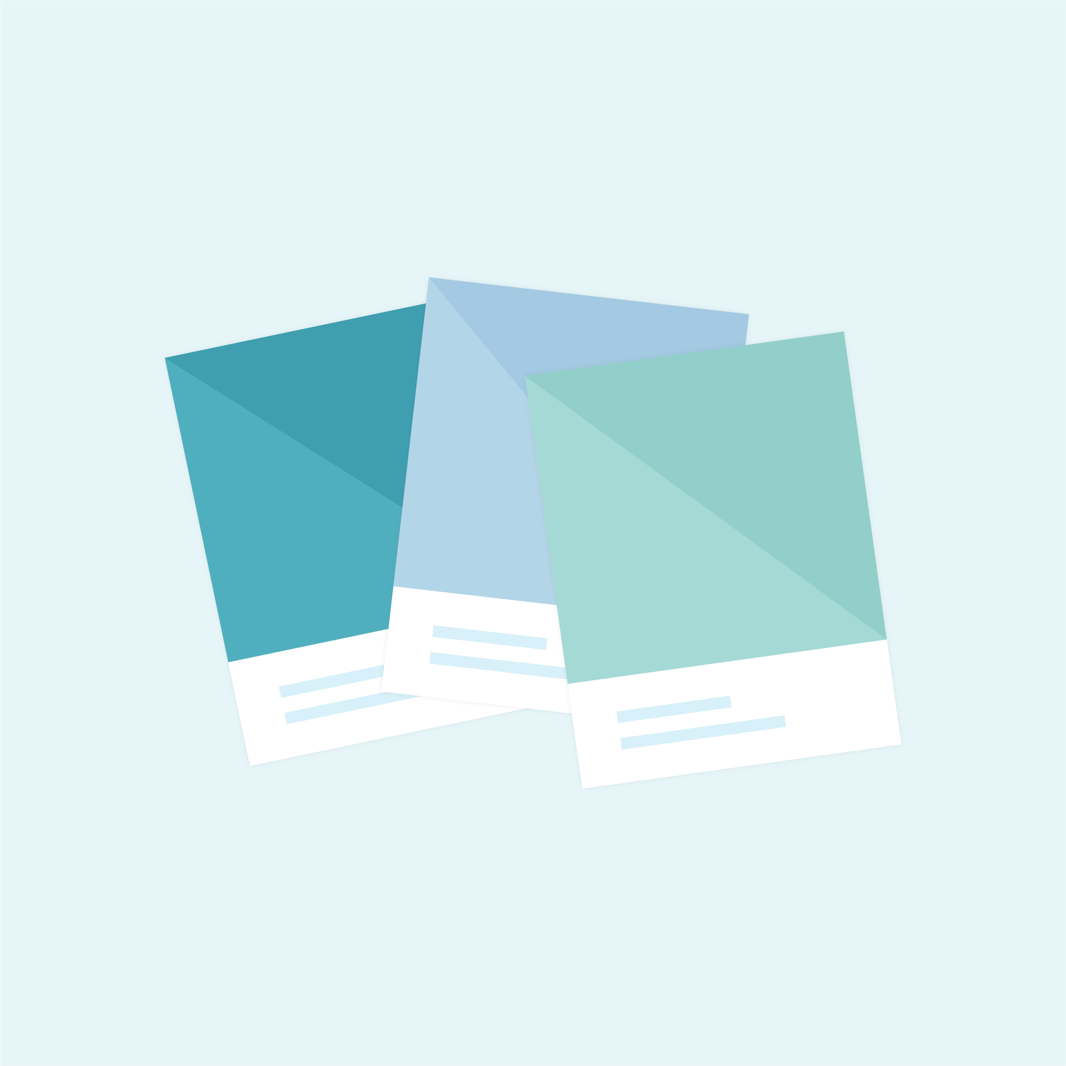 Vector illustration of Pantone chips/single Pantone swatches in flat design style