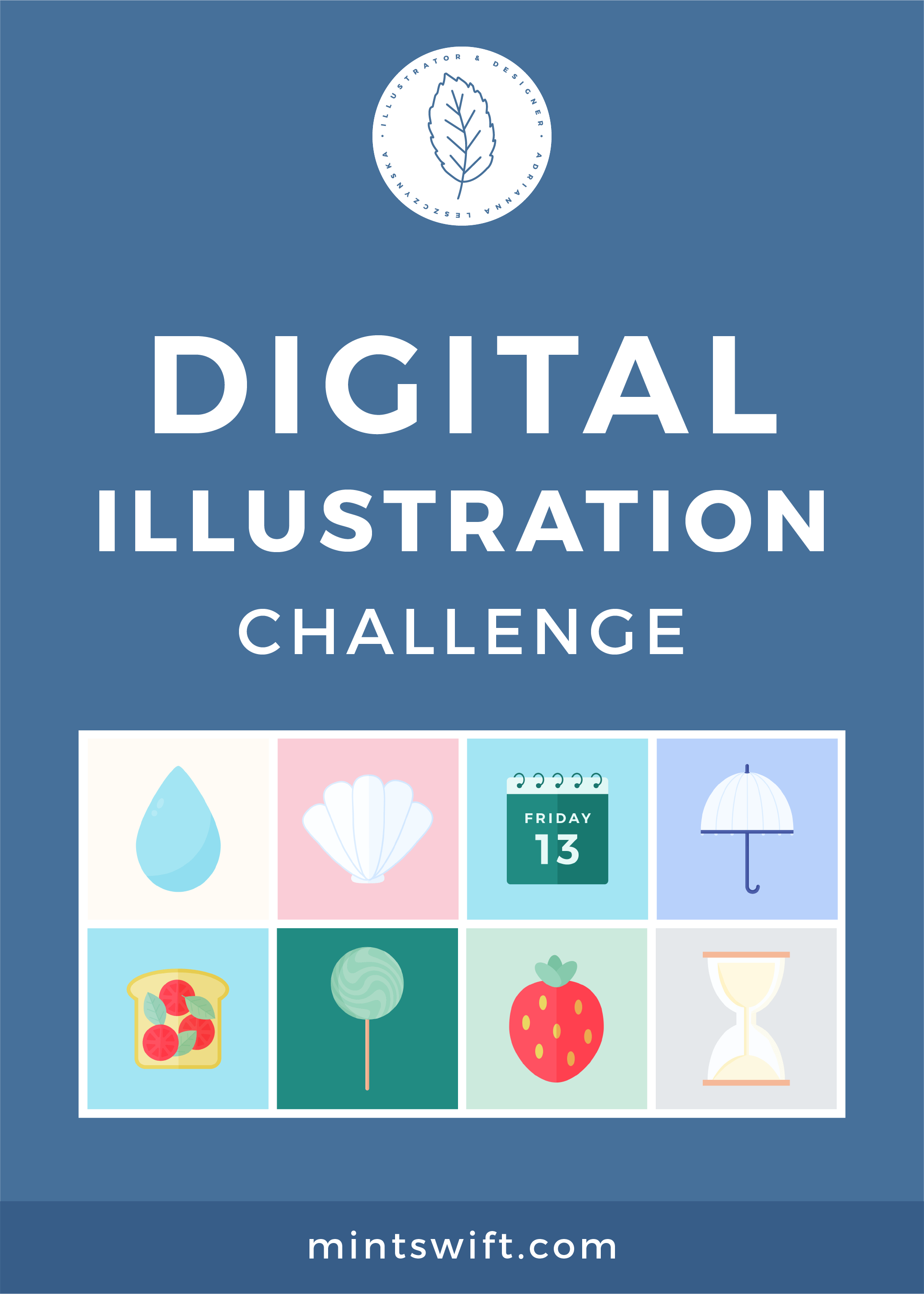 15 days of digital illustration challenge to hone in my design skills. Vector illustrations about nature, food, travel, office & home in flat design style