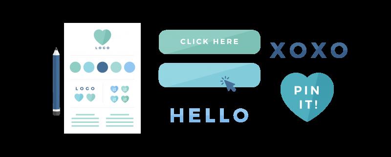 Brand board + design elements design - Brand Design Package - Design Process & Design Deliverables.- MintSwift
