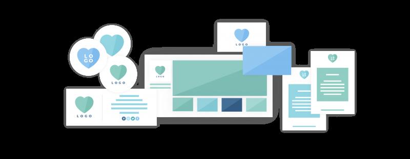 Five brand collaterals Design - Brand Design Package - Design Process & Design Deliverables.- MintSwift